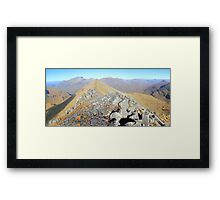 Beautiful day on the Ring of Steall (Colour Version) Framed Print