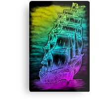 Caleuche Ghost Pirate Ship / Color Metal Print