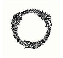The Elder Scrolls logo Art Print