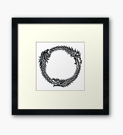 The Elder Scrolls logo Framed Print