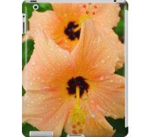 peach hibiscus_2 iPad Case/Skin