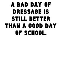 A Bad Day Of Dressage Photographic Print