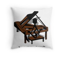 Keys- Muzik Stix Collection Throw Pillow