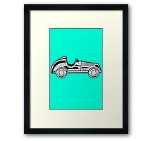 Vintage car geek funny nerd Framed Print