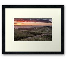 Dawn at British Camp, Malvern Hills, Herefordshire Framed Print
