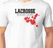 """Lacrosse """"No Blood No Foul"""" Unisex T-Shirt"""