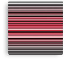 Vibrant red and monochrome horizontal linework Canvas Print
