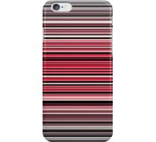 Vibrant red and monochrome horizontal linework iPhone Case/Skin