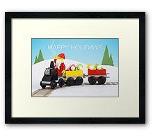 Santa's Train Framed Print