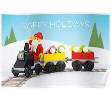 Santa's Train Poster