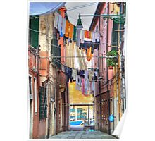 Clotheslines In Venice Italy Poster