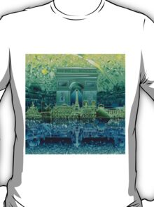 paris skyline abstract 5 T-Shirt