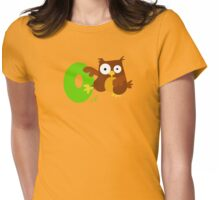 o for owl Womens Fitted T-Shirt