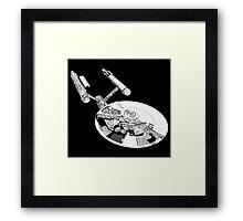 Star Trek - Enterprise - Blueprint  Framed Print