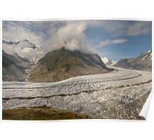Altesch Glacier, Switzerland Poster