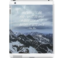 The World is big iPad Case/Skin