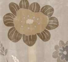 Vintage Sepia Wild Meadow Flowers Sticker