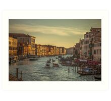 Grand Canal as the sun is setting Art Print