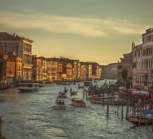 Grand Canal as the sun is setting by Chris Fletcher