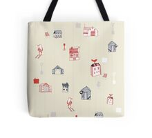 Cute objects house, bird, store Tote Bag