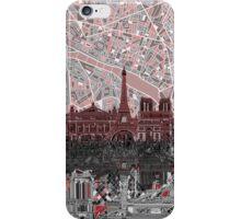 paris skyline abstract 7 iPhone Case/Skin