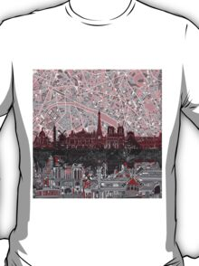 paris skyline abstract 7 T-Shirt
