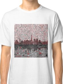 paris skyline abstract 7 Classic T-Shirt