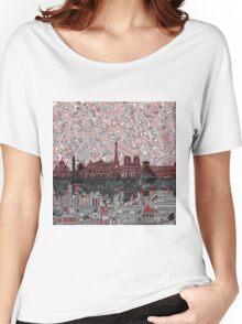 paris skyline abstract 7 Women's Relaxed Fit T-Shirt