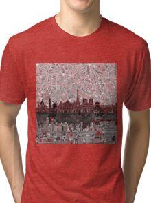 paris skyline abstract 7 Tri-blend T-Shirt