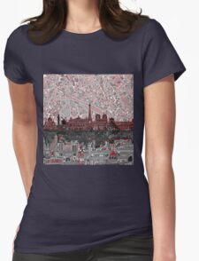 paris skyline abstract 7 Womens Fitted T-Shirt
