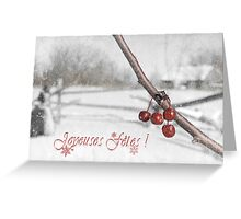 Old Fashioned Christmas (French) Greeting Card