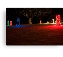 Multi-Colored Glow and Red Snow Canvas Print