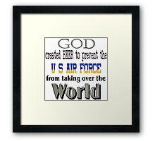 God, Beer & the U. S. Air Force Framed Print