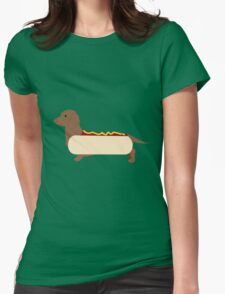 Hot dog Womens Fitted T-Shirt
