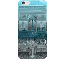 paris skyline abstract 8 iPhone Case/Skin