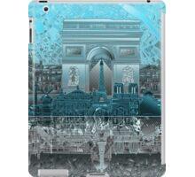 paris skyline abstract 8 iPad Case/Skin