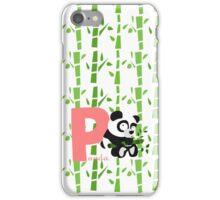p for panda iPhone Case/Skin
