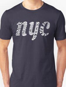 New York City Five Boroughs Typography Unisex T-Shirt