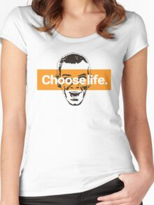 Choose life. Women's Fitted Scoop T-Shirt