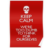 KEEP CALM - WERE TOO DUMB Poster