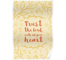 Trust in the lord - typography Poster
