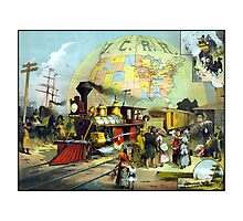 Transcontinental Railroad Photographic Print