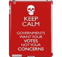 KEEP CALM - GOVERNMENTS iPad Case/Skin