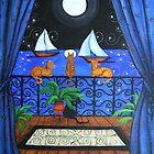 Cat's Magical Night by dreamlyn