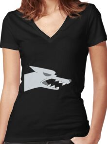 Wendy's wolf shirt - Gravity Falls Women's Fitted V-Neck T-Shirt