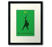 "Link- ""Heroes"" Framed Print"