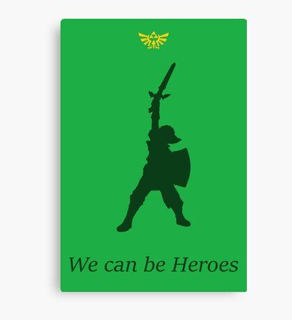 """Link- """"Heroes"""" Canvas Print"""