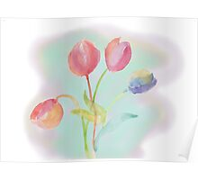 Flowers for you Poster