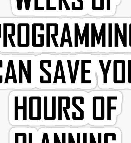 Plan your programming. Sticker