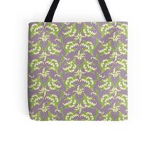 Lily of the Valley Pattern on Mauve Tote Bag